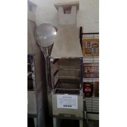 Churrasqueira pre moldada 0,45cm lisa nat c/ kit inox