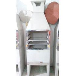 CHURRASQUEIRA PRE MOLDADA 0,65cm LISA NAT C/ KIT INOX